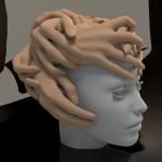 render modelu nakrycia głowy