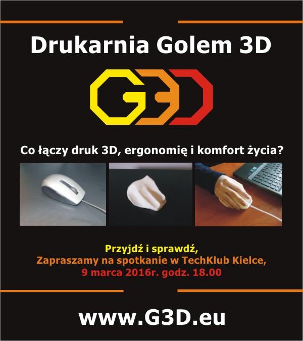 DrukarniaGole3D_ergonomia-druk3D_zaproszenie do TechKlubu