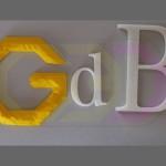 wydruki 3D - litery