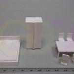 wydruki 3D - elementy umeblowania (do makiety)