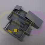 wydruk 3D - makieta domu jednorodzinnego, z elementami umeblowania