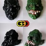 wydruk 3D - maska malowana ręcznie