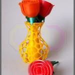 wydruk 3D - róże w wazonie voronoi
