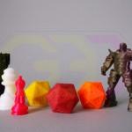 wydruki 3D akcesoria do gier - pionki, kostki, figurki