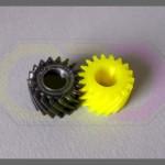 wydruki 3D - zębatki skośne