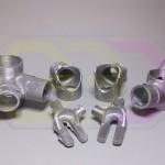 łączniki rurowe - odlewy z aluminium na bazie wydruków 3D
